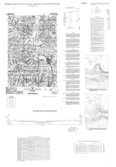 Potlatch Idaho Map.Bedrock Geologic Map Of The Potlatch Quadrangle Latah County Idaho